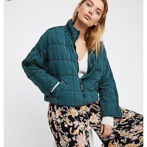 Free People Dolman Sleeve Quilted Jacket